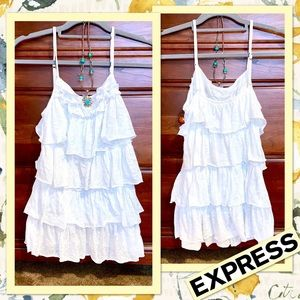 🌻 Express Burnout Ruffled Camisole Top in Ivory🌻